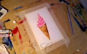 Ice-Cream ! - Acquerello e tempera